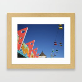Color--Santa Cruz Board Walk Framed Art Print