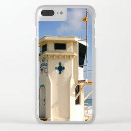 Laguna Beach Lifeguard Tower Clear iPhone Case