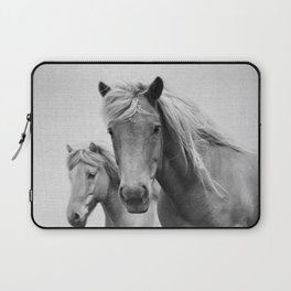 Horses - Black & White Laptop Sleeve