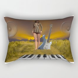 Sands of Music Rectangular Pillow