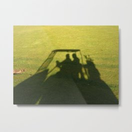 Golf Cart Shadows Metal Print