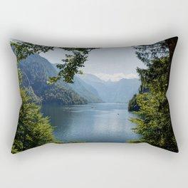 Germany, Malerblick, Mountains -Alps Koenigssee Lake Rectangular Pillow