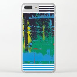 Color Chrome - Line graphic Clear iPhone Case