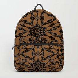 Black and Bronze Petals 2676 Backpack