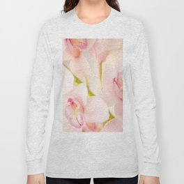 Orchid Flower Bouquet On A Light Background #decor #society6 #homedecor Long Sleeve T-shirt