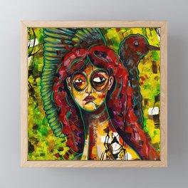 Watercolor Female portrait Framed Mini Art Print