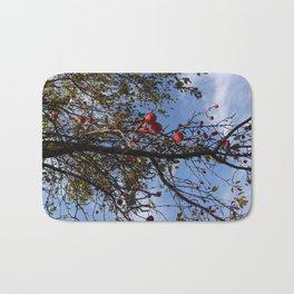 Cranberries & Sky Bath Mat