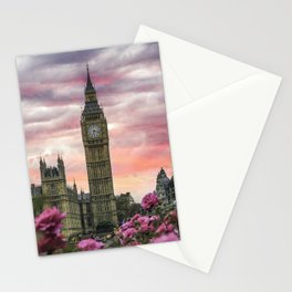London Pink Stationery Cards