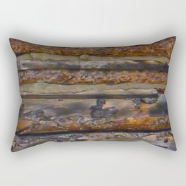 Aged Log Cabin rustic decor Rectangular Pillow