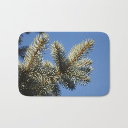 All spruced up and still blue - Blue spruce, blue sky 1564 Bath Mat