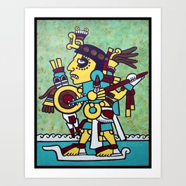 Mixtec Warrior Art Print