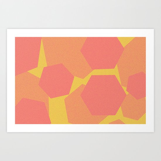 Hexa-Pattern Art Print