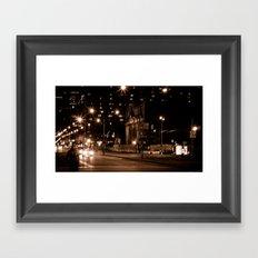Montreal Nights Framed Art Print