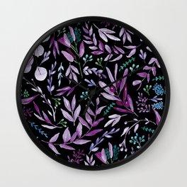 Eucalyptus Violet Wall Clock