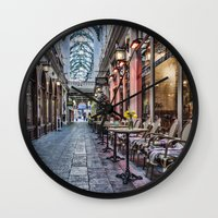 1975 Wall Clocks featuring Arcade Cafe by Steve Purnell