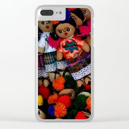 colorful dolls Clear iPhone Case