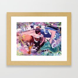 Ultra Deer Petting Framed Art Print