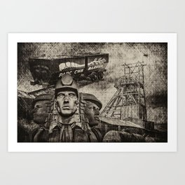 Mining Tribute Antique 1 Art Print