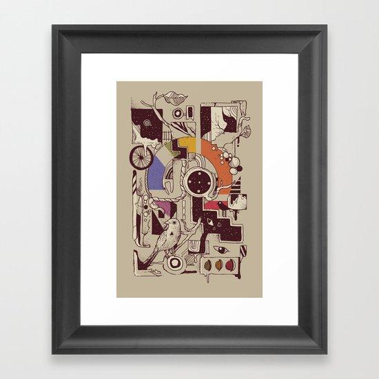 Somewhere Framed Art Print