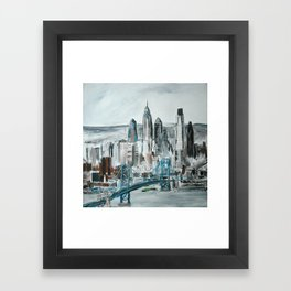 Philadelphia, Pennsylvania, USA Fine Art Acrylic Painting Framed Art Print