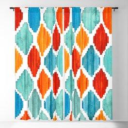 Bright colors tribal ikat pattern Blackout Curtain