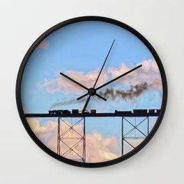 Choo Choo in the Clouds Wall Clock