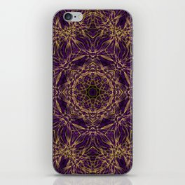 Purple Mandala Hippie Pattern iPhone Skin