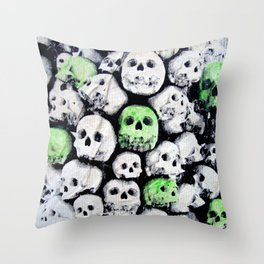 SKULL, by Ludo Throw Pillow