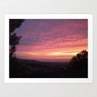 Sunrise Clouds Art Print