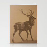 stag Stationery Cards featuring Stag by liberthine01