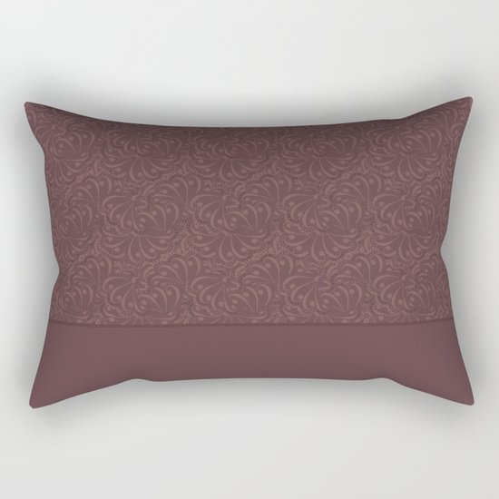 Warm , chocolate brown solid pattern . Chocolate . Rectangular Pillow