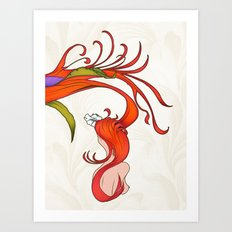 Strawberry Hair Art Print