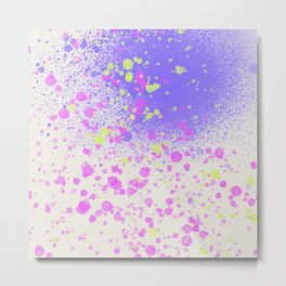 The 90s are Back - neon splatter paint - spray paint Metal Print