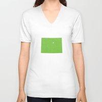 colorado V-neck T-shirts featuring Colorado by Hunter Ellenbarger