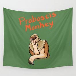 Proboscis Monkey Wall Tapestry