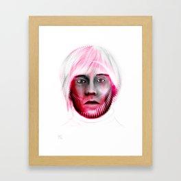 Andy Spiral on white Framed Art Print