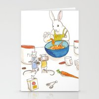 baking Stationery Cards featuring Baking by Bluedogrose