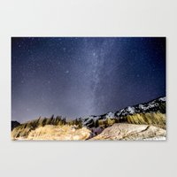 milky way Canvas Prints featuring Milky way by Garrett Lockhart