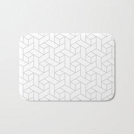 Geometric gray pattern Bath Mat