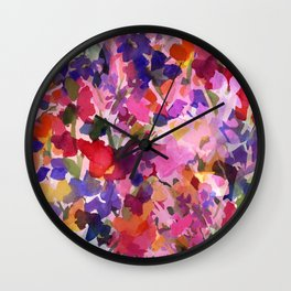 Candy Wildflowers Wall Clock