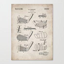 Golf Clubs Patent - Golfing Art - Antique Canvas Print