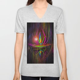 Abstract perfection - Light and shadow Unisex V-Neck