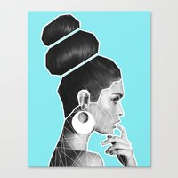 vogue Canvas Prints featuring Vogue by G-Fab