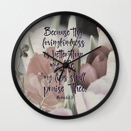 Psalms Bible Verse Lovingkindness Wall Clock