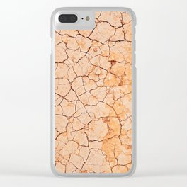 Cracked dry land pattern Clear iPhone Case