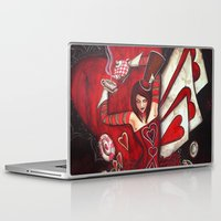 mad hatter Laptop & iPad Skins featuring The Mad Hatter by Megan Mars