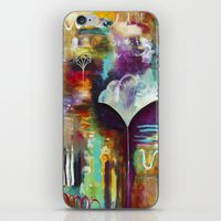 """flora bowley iPhone & iPod Skins featuring """"Spirit Works"""" Original Painting by Flora Bowley by Flora Bowley"""