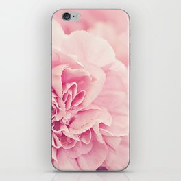Pale Pink Carnations 4 iPhone Skin