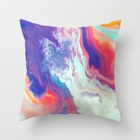 passion Throw Pillows featuring Passion by Kimsey Price