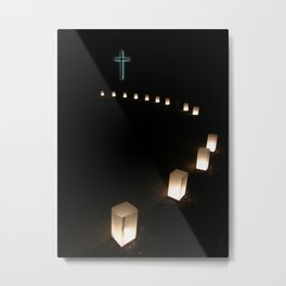 Thirteen Steps To The Cross Metal Print